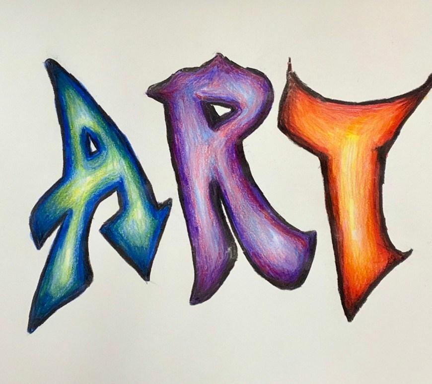 colored-pencil-name-design-art-lesson-