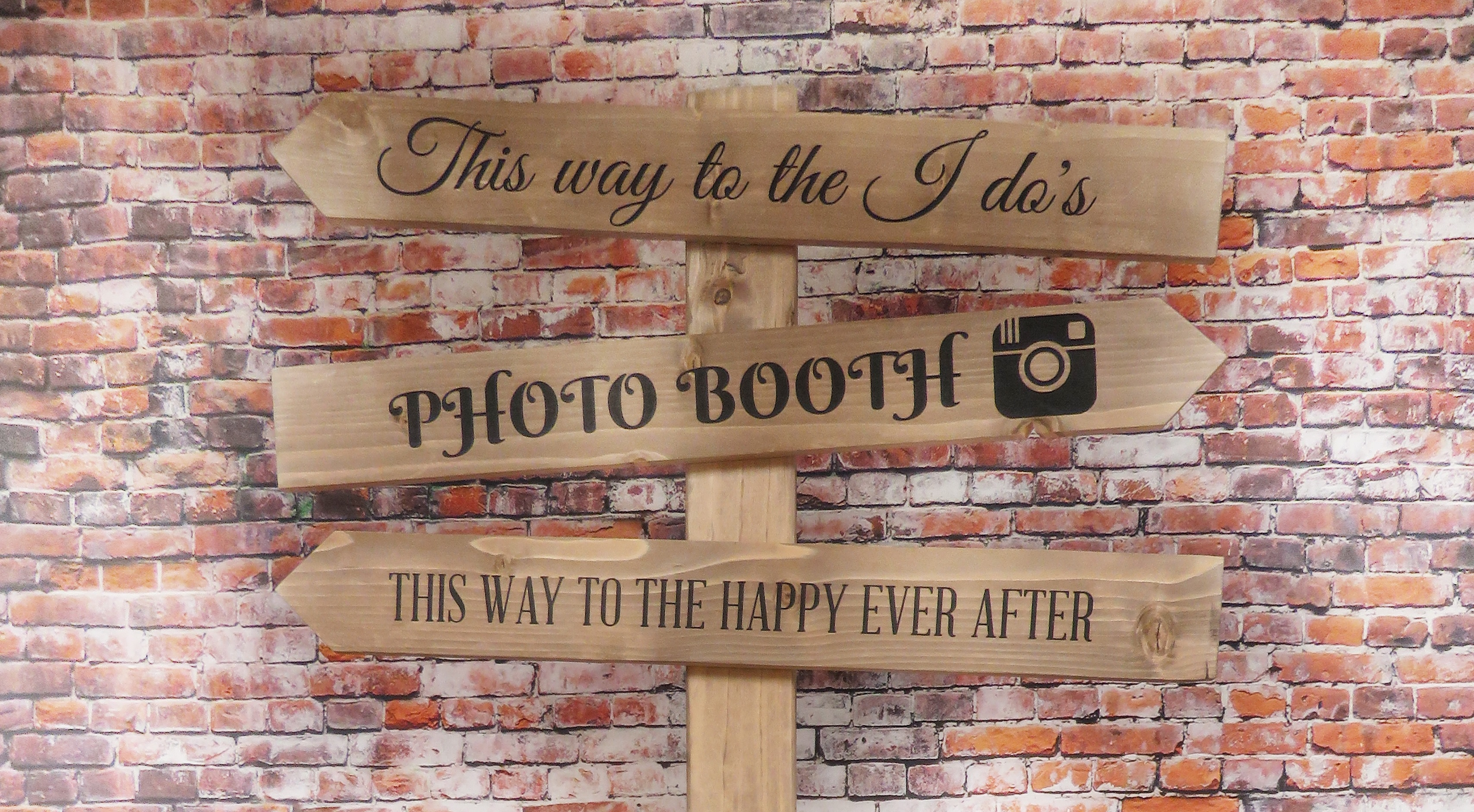 rustic themed wedding inspiration - personalised signs
