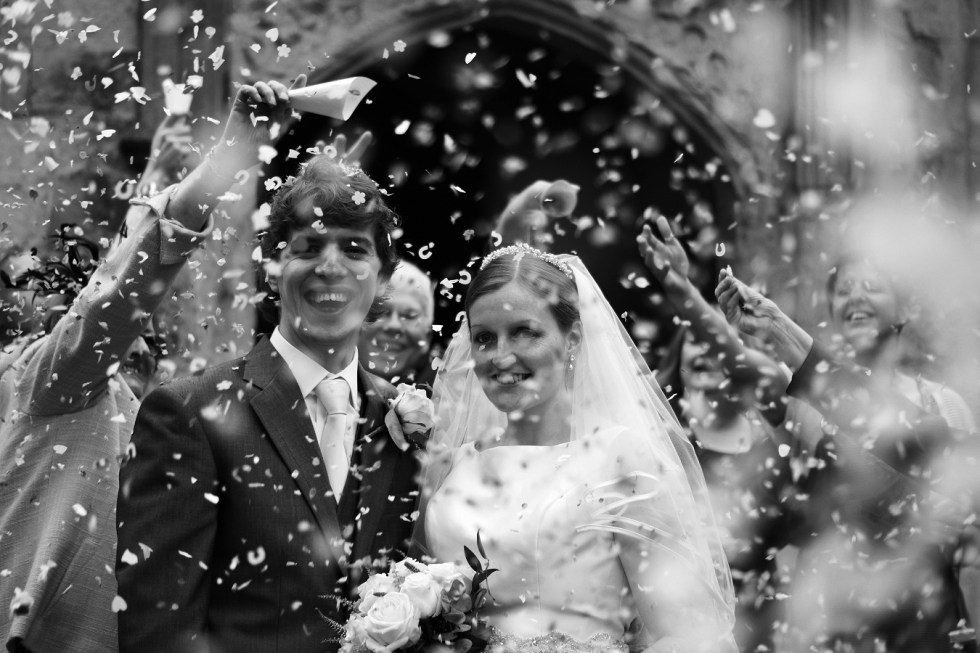 Confetti Shower wedding