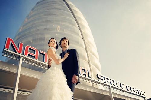 wedding venue inspiration - alternative wedding venues - national space centre