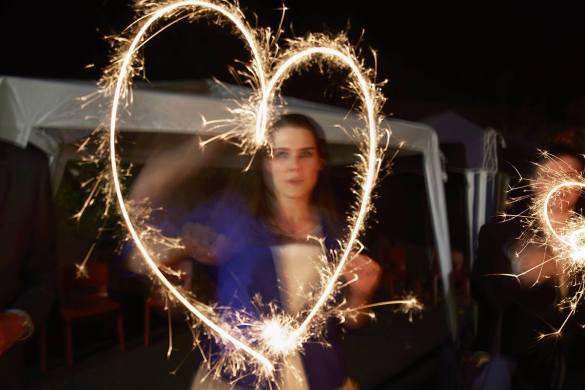 Lizzy and Emma's bonfire night wedding