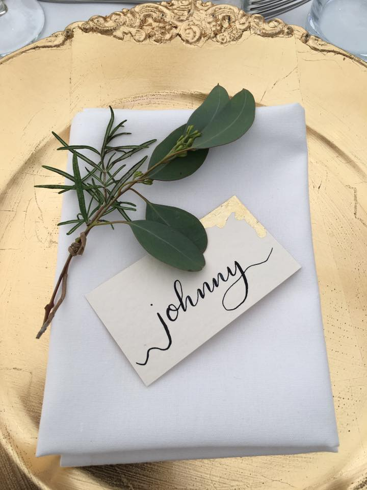 bespoke calligraphy wedding place card