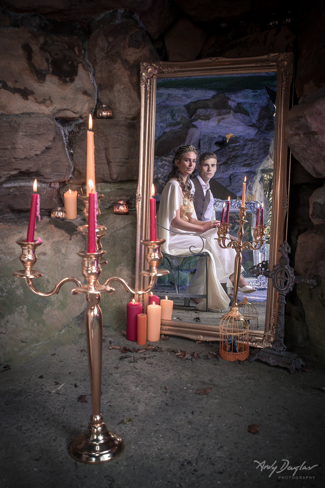 Game of thrones inspired wedding in the grotto