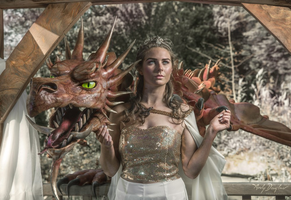 Game of thrones wedding- Dragon and Saff with gold sequined top