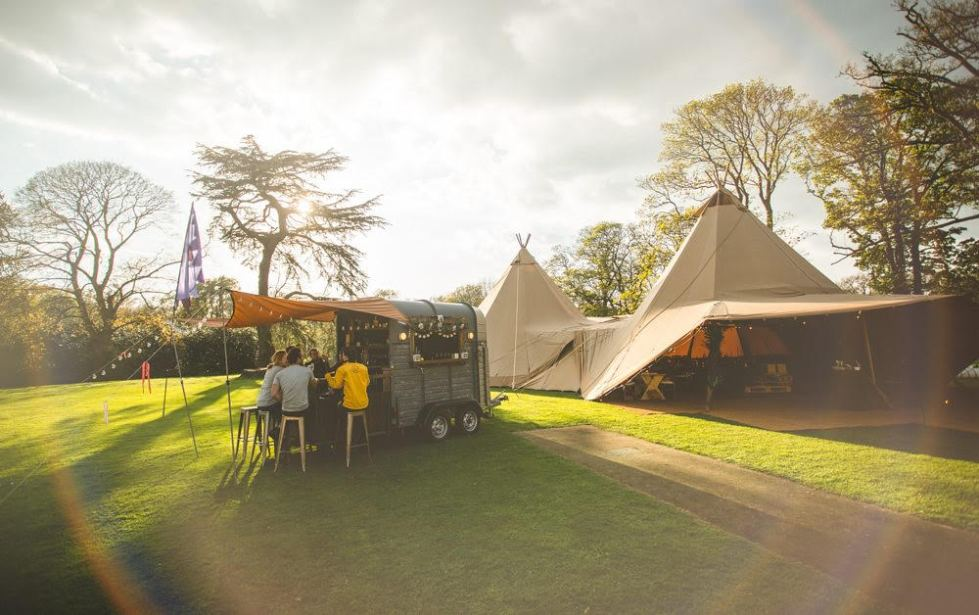 boho bar and tipi
