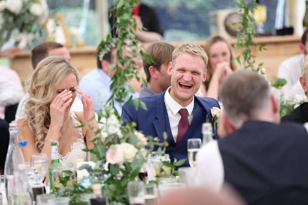 real marquee wedding inspiration - the wedding speeches