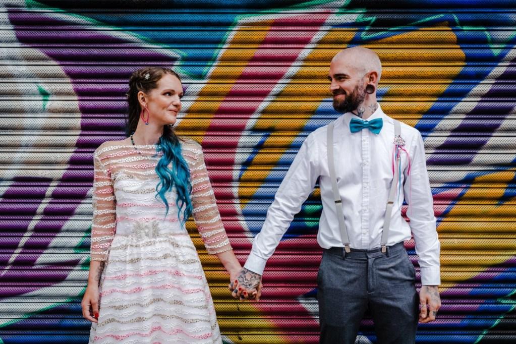 Urban wedding - Kirsty rockett photography - nottingham wedding - alternative wedding