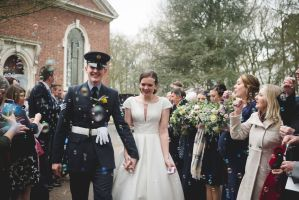 lincolnshire winter wedding flowers bride and groom confetti bubble shot
