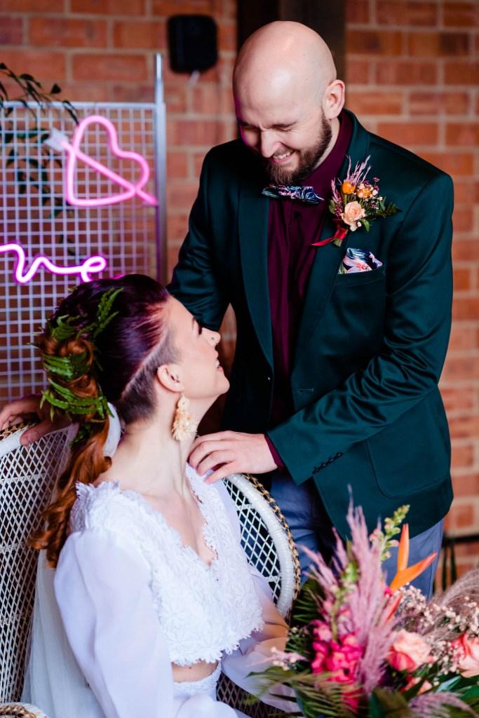 modern tropical wedding - modern wedding - modern bride - east midlands wedding planner - tropulence wedding - industrial wedding