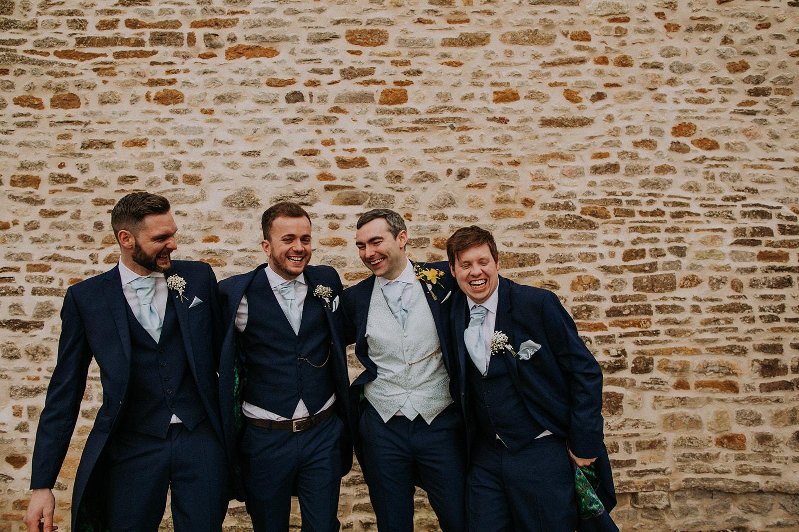 groomsmen laughing - rutland wedding - fun wedding - east midlands wedding planner - Leicestershire wedding planning - nottingham wedding planning