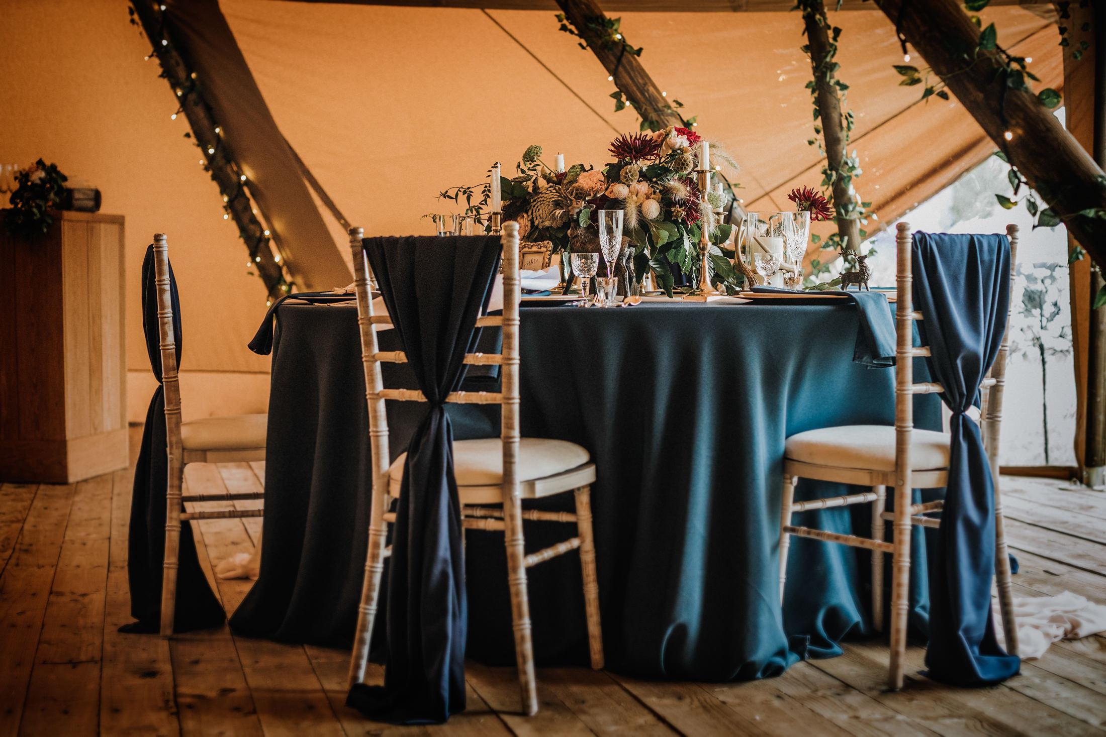 Woodland Wedding - nottingham outdoor wedding venue - east midlands wedding planner - tipi wedding styling