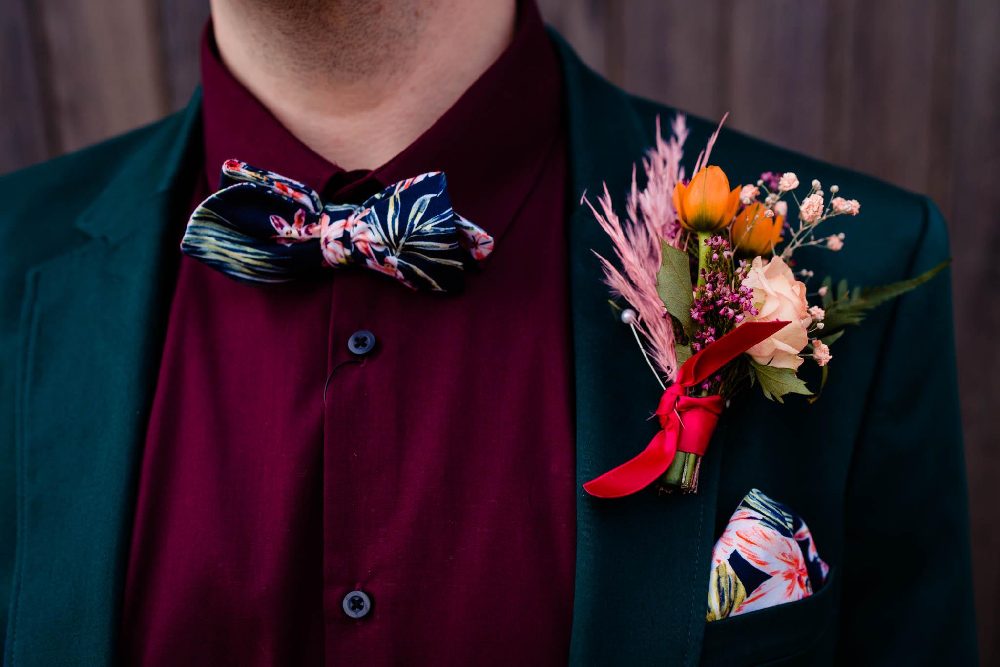 unique grooms buttonhole - unique groomswear - modern tropical wedding - modern wedding - modern bride - east midlands wedding planner