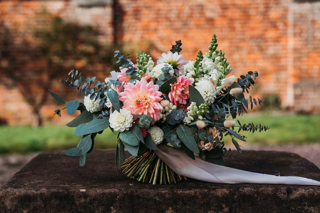 Wedding bouquet from Limewood Flowers at Fillongley Hall, Warwickshire exclusive wedding venue