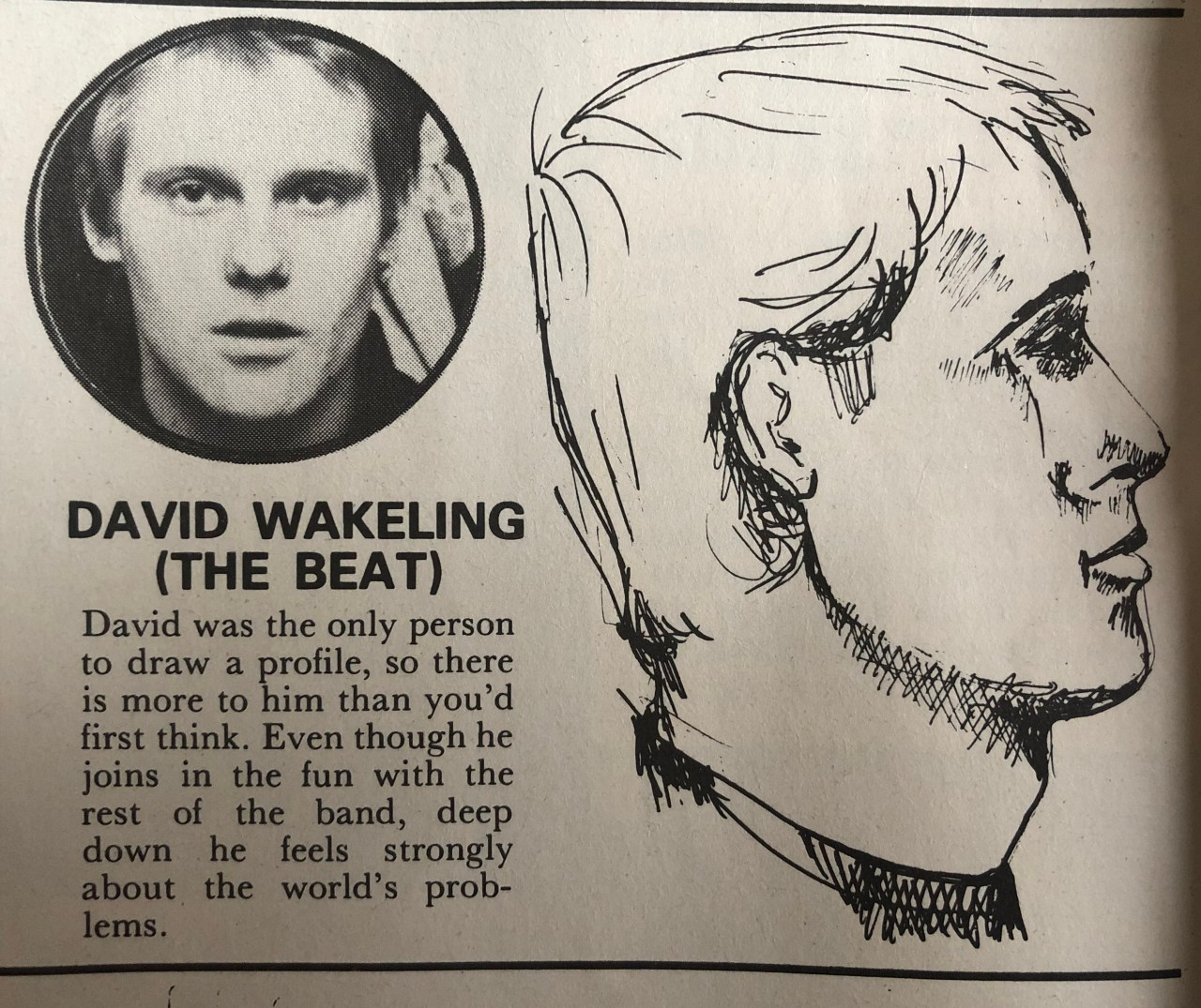 Dave Wakeling of The Beat draws himself