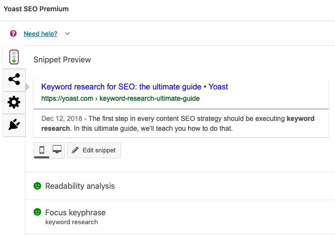 The Snippet Preview in Yoast SEO gives you an idea of how your post will look in search engines. Use it to make your content stand out!