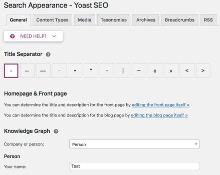 search appearance yoast seo