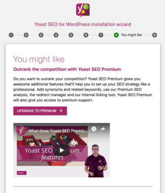 Yoast SEO Configuration wizard step 8