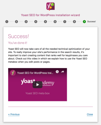 Yoast SEO configuration wizard step 9