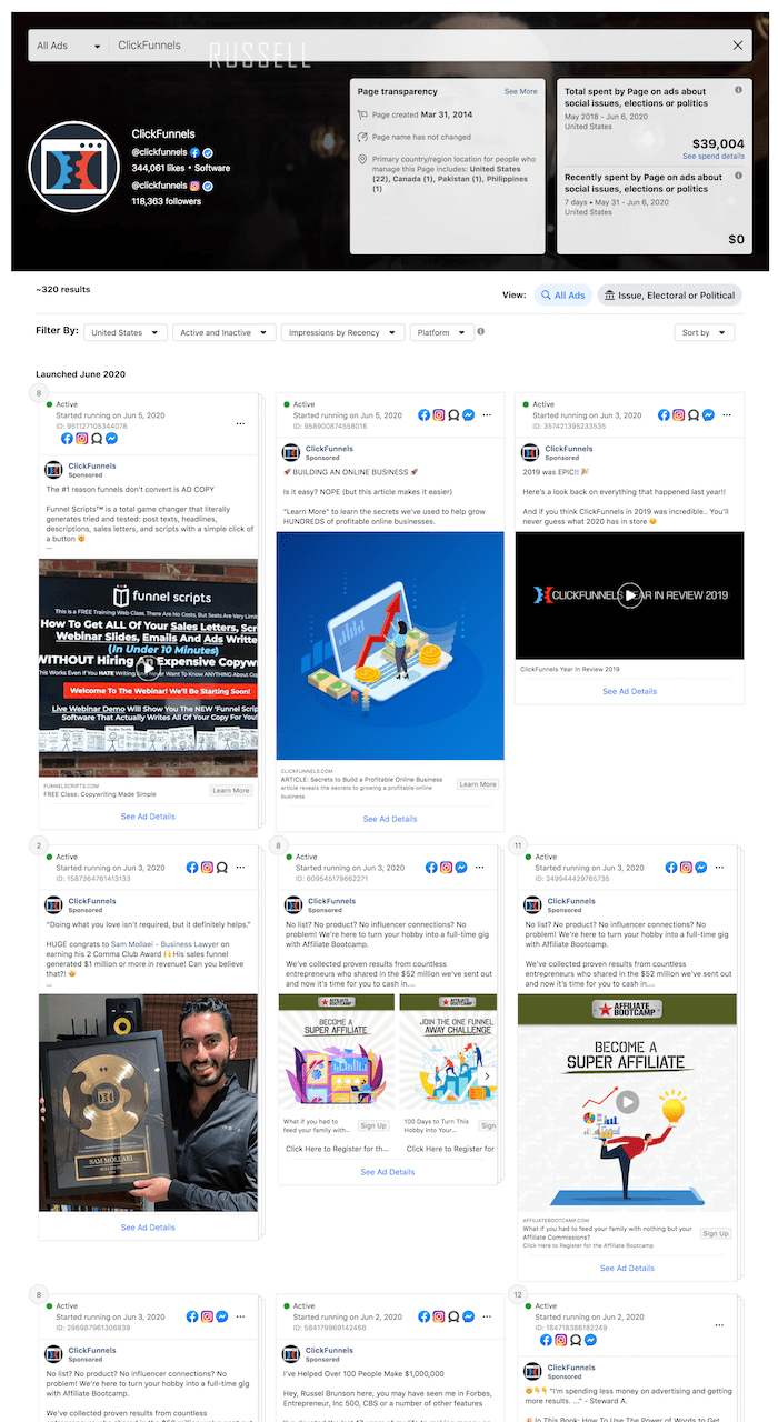 fb ad library