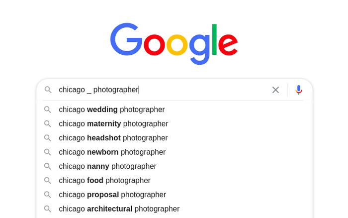 Google Autocomplete predictions 7