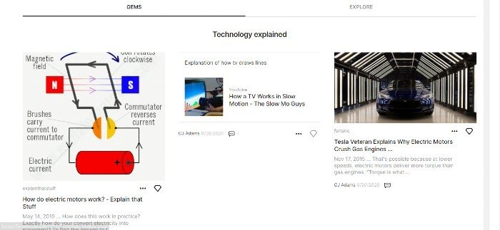 Google Keen Curated Content Example