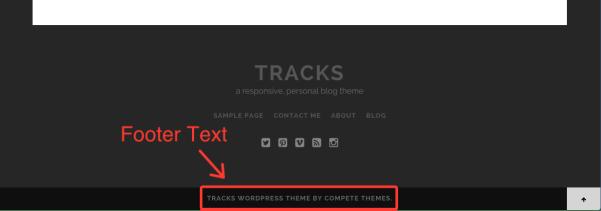 tracks footer text Bad SEO Tactic