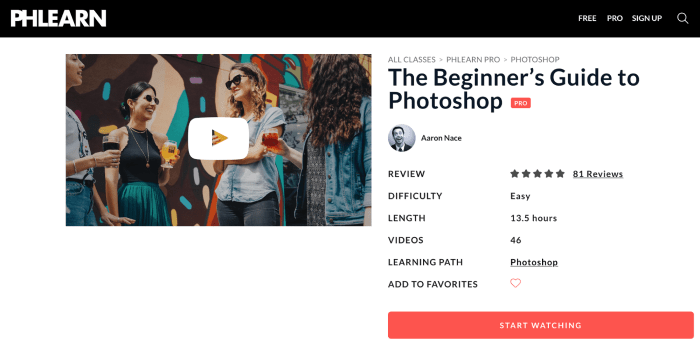 Online Photoshop Classes - Phlearn
