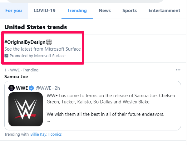 twitter trend ad