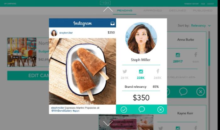 influencer marketing - using a marketplace