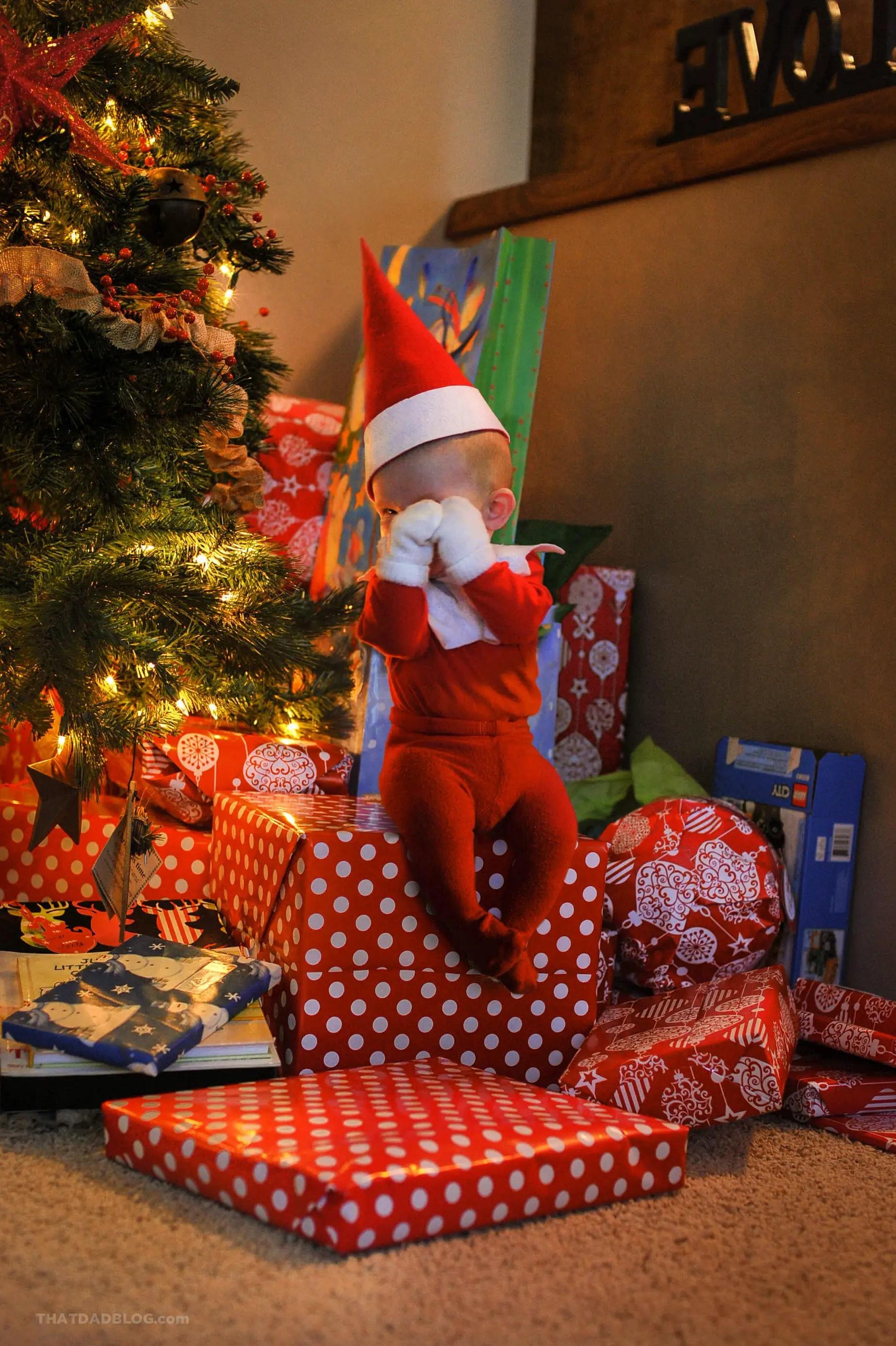 Elf on the shelf christmas morning