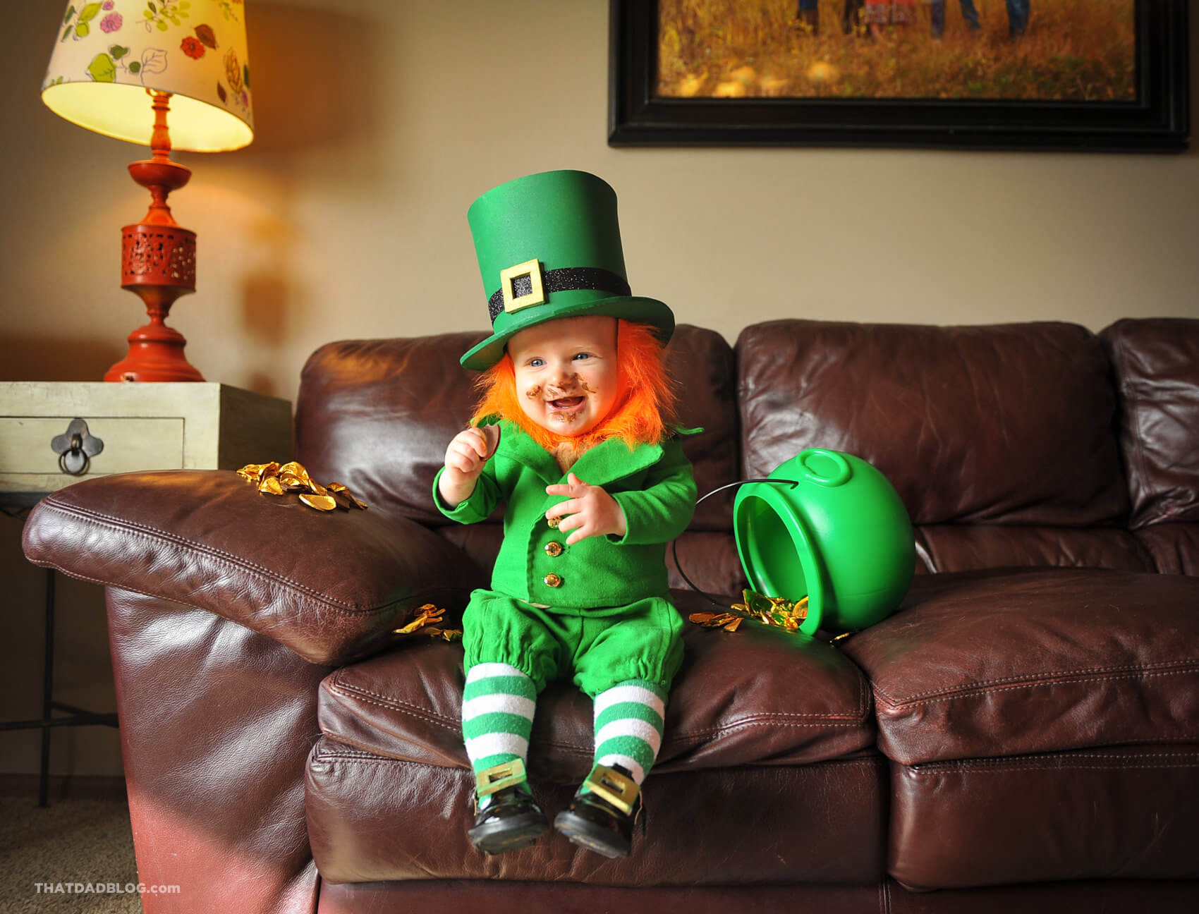 Real life leprechaun that dad blog leprechaun eating chocolates 2 altavistaventures