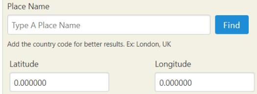 RSelenium latitude longitude