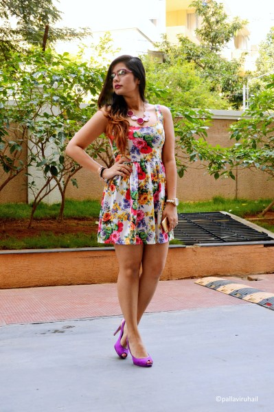Enigma   That Delhi Girl  Outfit Details  Dress from Zara  Neckpiece   Bangles from Fashion and you   Heels from Marks   Spencer  Watch from Armani  Girl About Town topped with  Viva