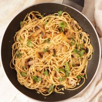 Mushroom Aglio Olio Spaghetti