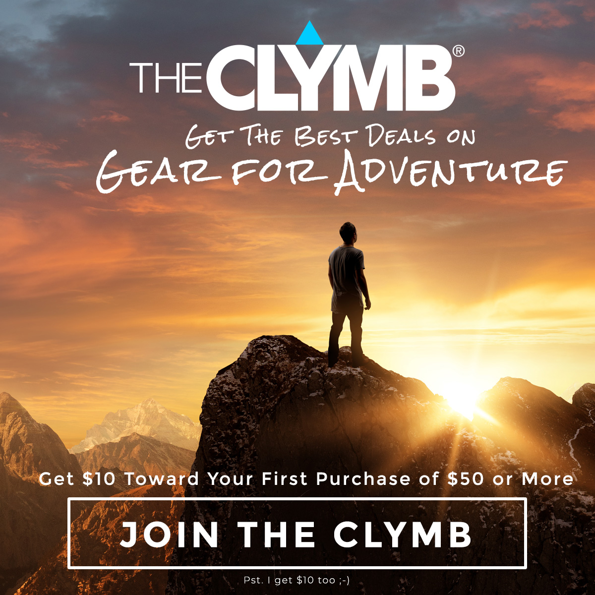 The Clymb is a members-only website featuring premium Outdoor brands at up to 70% off retail prices!