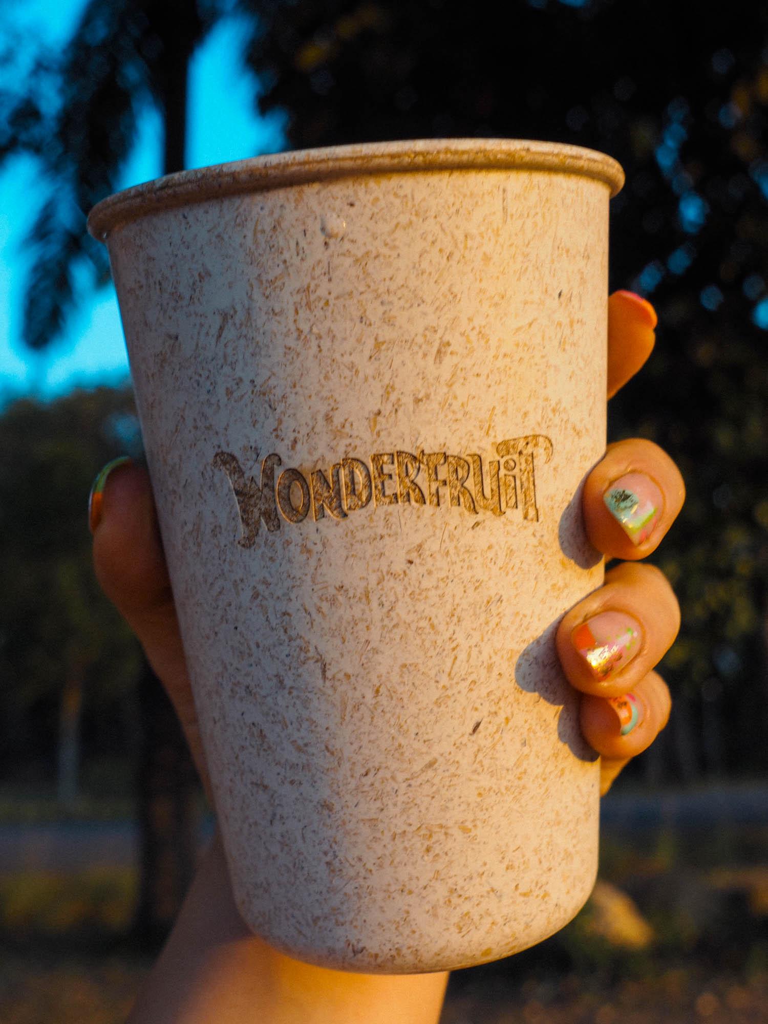 Wonderfruit Festival coconut cup