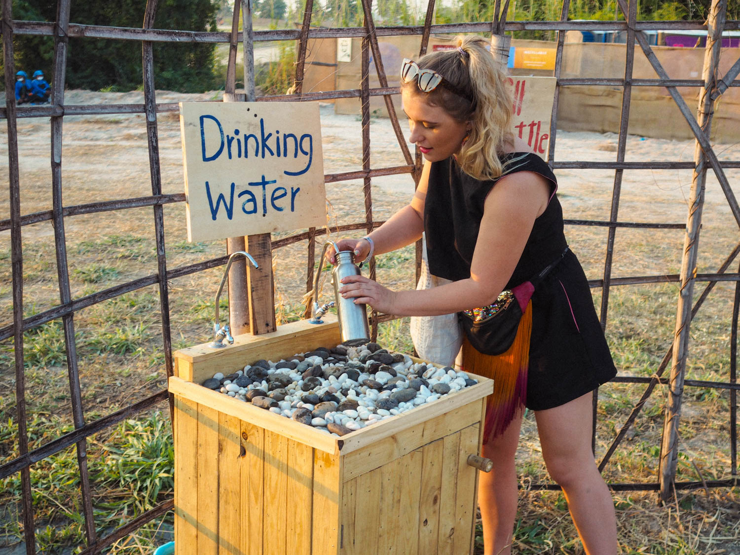 Filling up at A wonderfruit Festival water point