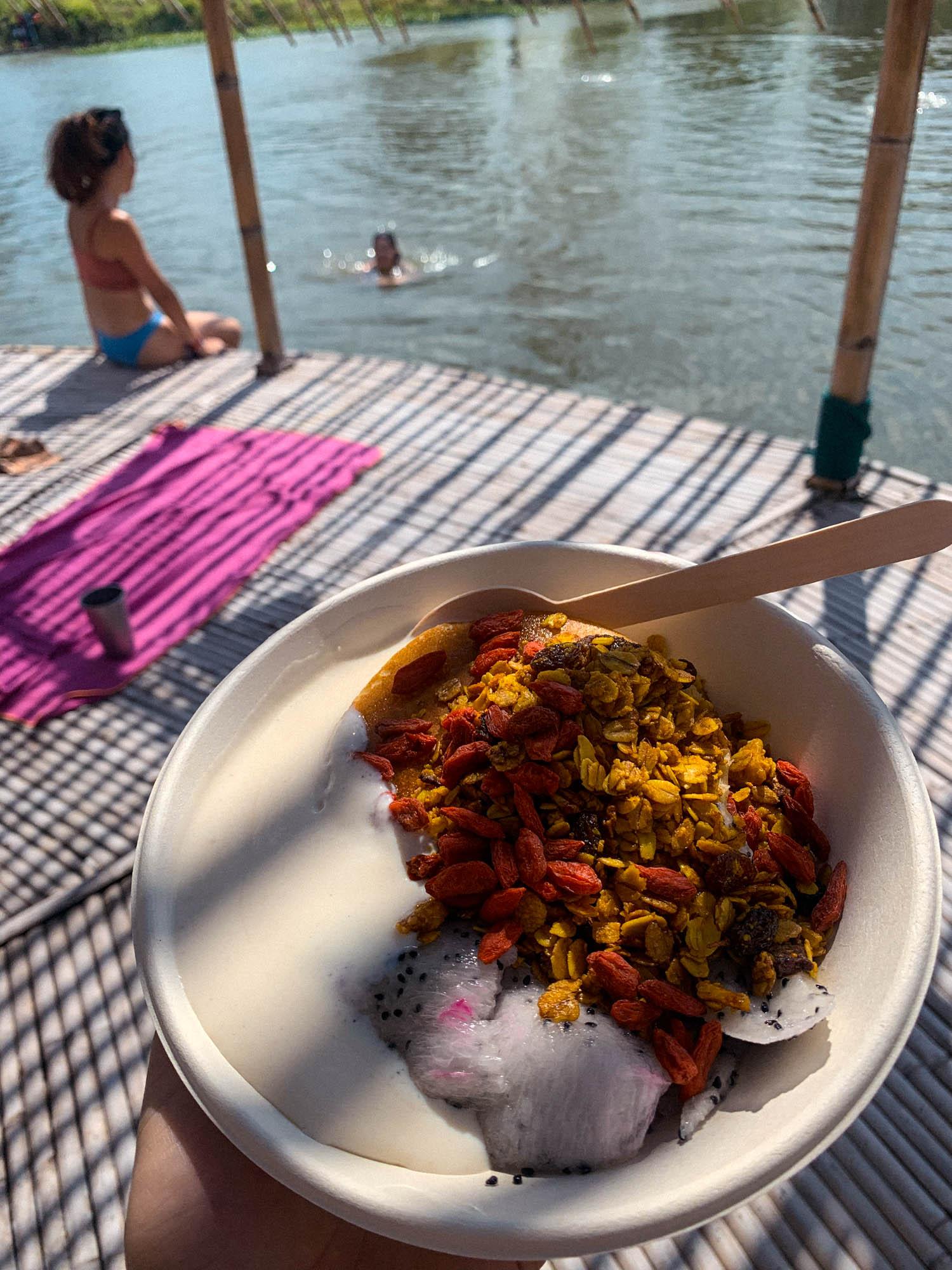 Swimming at Wonderfruit