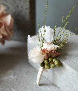 Architectural Buttonhole | That Flower Shop | Weddings & Events