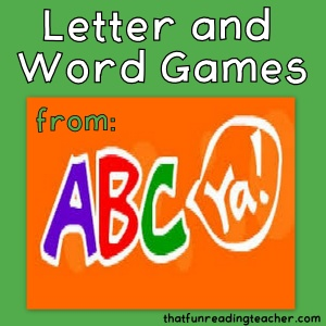 Letter and word games from ABCya.com!