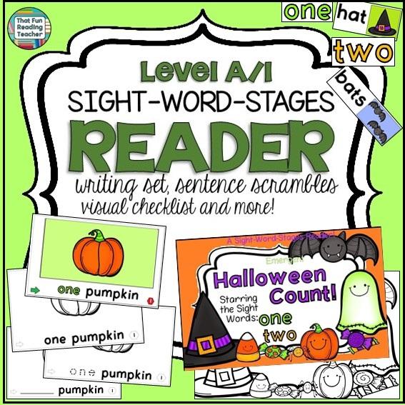 Halloween Emergent Sight Word Reader Writing Activities $