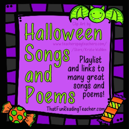 Halloween Songs & Poems - FREE! on ThatFunReadingTeacher.com