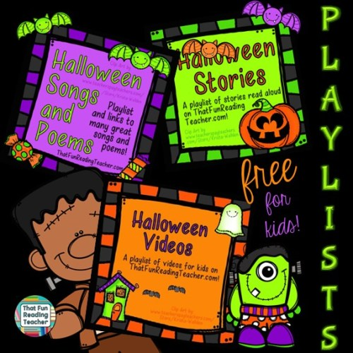 Halloween Fun and Free playlists for Kids!