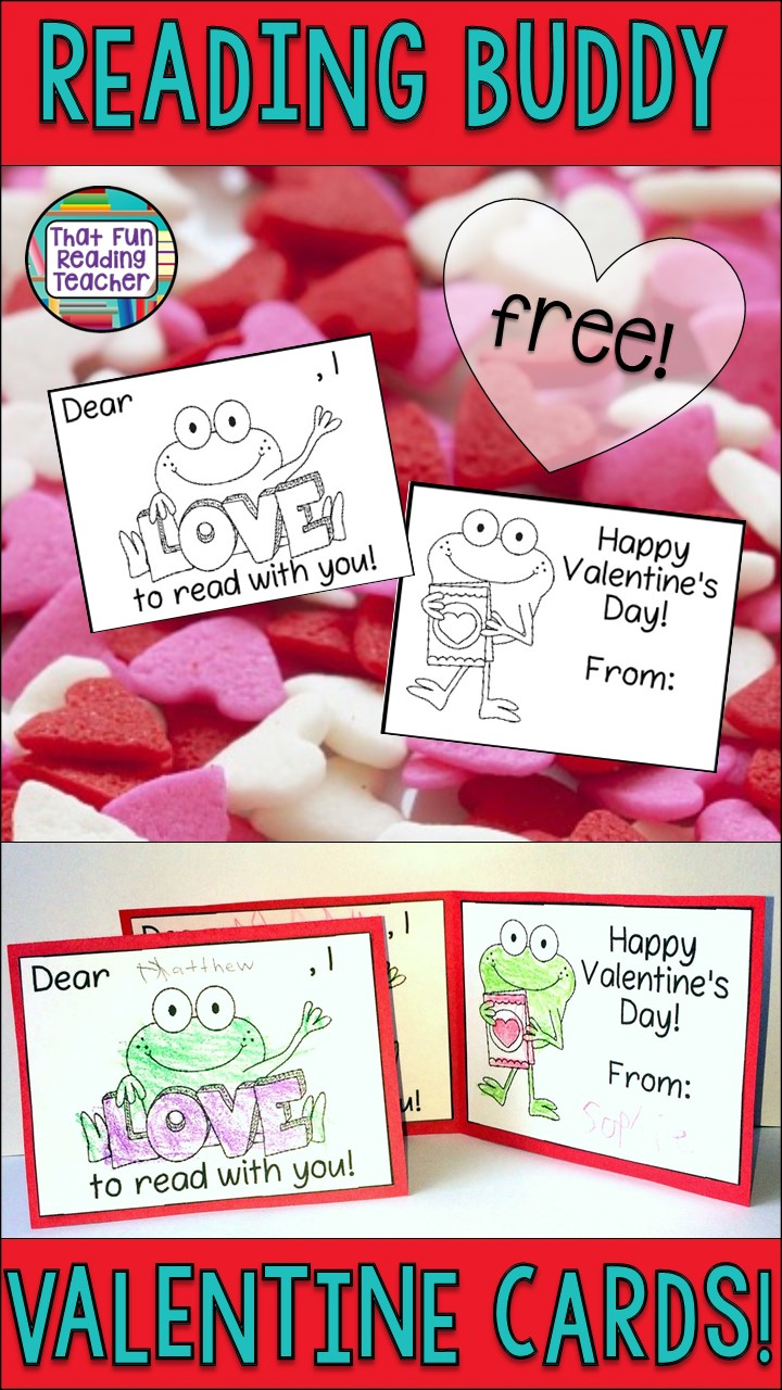 Reading Buddy Activity for Valentine's Day - Kids color and sign (and even copy name of Reading Buddy) onto this free Valentine card!