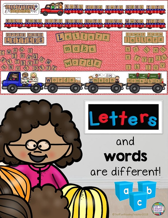 Teaching kids the difference between letters and words? Teach with this fun storybook, visuals and sorting activity! $ #teachwithbooks #kindergarten #earlylearning #teacherspayteachers #tpt