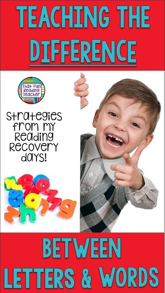 How to teach the difference between letters and words: tried and true strategies from the Reading Recovery world that work! #letters #words #earlylearning #teaching #readingrecovery