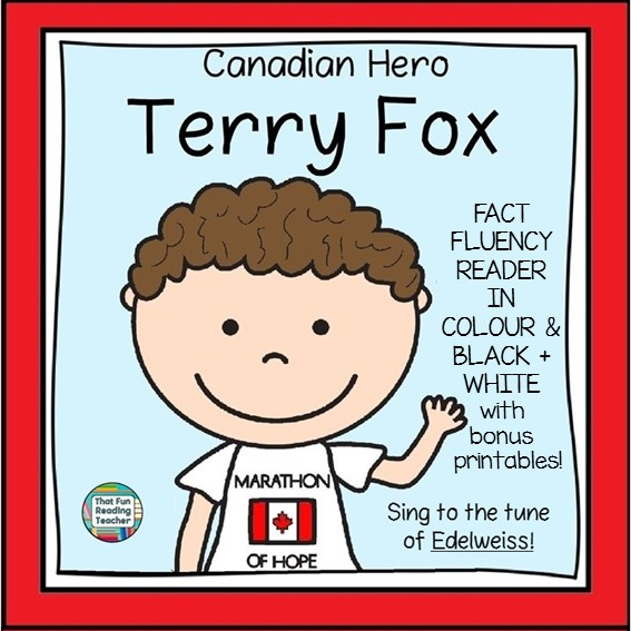 Terry Fox Song Picture book and activities