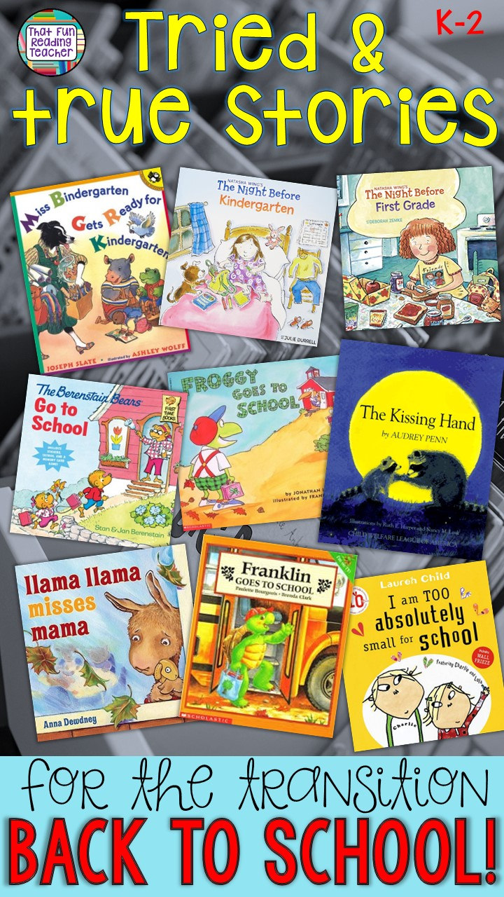 Looking for great #bts picture books? Here are my tried, tested and true recommendations for easing the transition back to school; for their familiarity, upbeat rhymes and modeling for K-2 students!