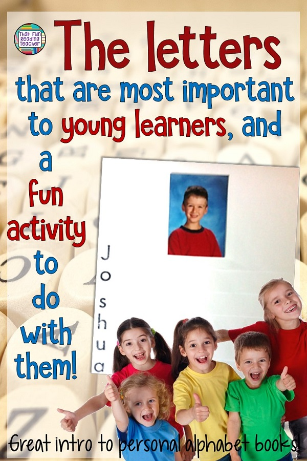 The most important letters to young students - and a fun, free activity!