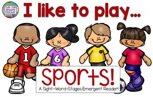 I like to play sports Level A #SWS Reader and Writing Activities Set $